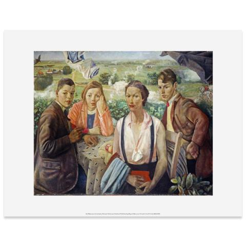A Portrait Group by James Cowie art print