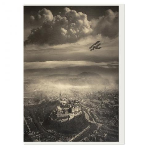 Aerial View of Edinburgh by Alfred G Buckham greeting card