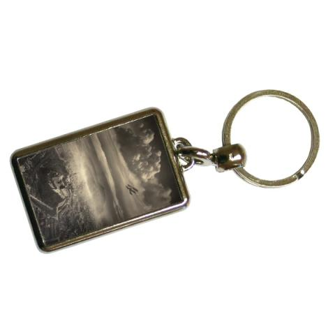 Aerial View of Edinburgh by Alfred G Buckham metal keyring