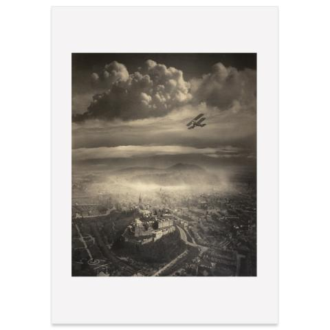 Aerial View of Edinburgh Alfred Buckham Large Poster Print