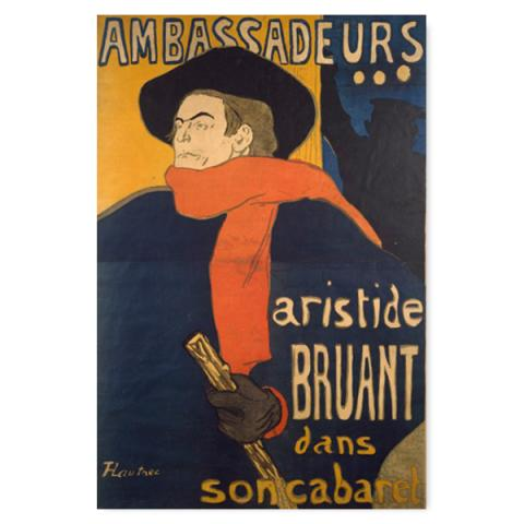 Ambassadeurs by Toulouse-Lautrec lined A5 notebook