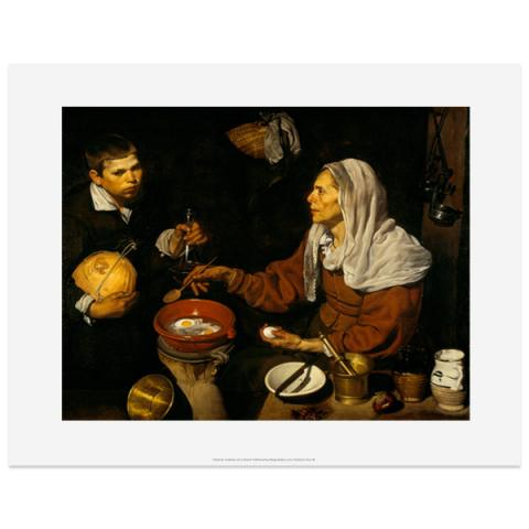 An Old Woman Cooking Eggs by Diego Velazquez art print