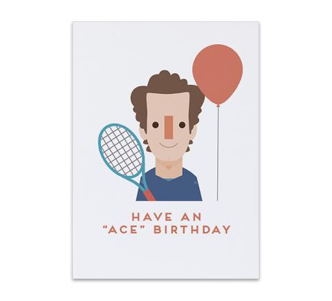 Andy Murray birthday card