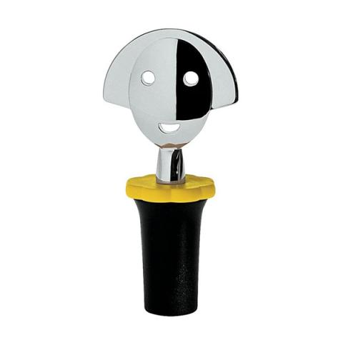 Anna G (black and chrome) by Alessi bottle stopper