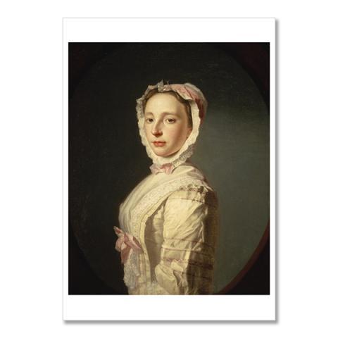 Anne Bayne, Mrs Allan Ramsay by Allan Ramsay A6 postcard