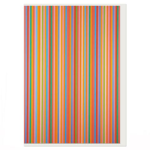 Aria by Bridget Riley greeting card