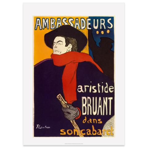 Aristide Bruant by Toulouse-Lautrec poster print