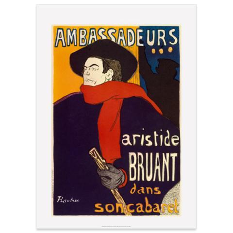 Aristide Bruant Toulouse-Lautrec Large Poster Print