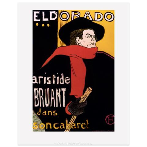 Aristide Bruant by Toulouse-Lautrec art print