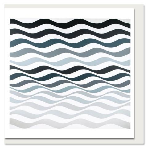 Arrest 3 by Bridget Riley greeting card