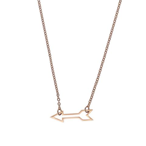 Arrowhead plated rose gold pendant necklace