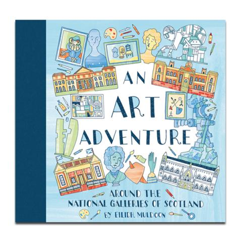 An Art Adventure Children's colouring book (hardback)