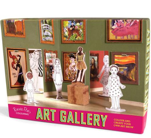 Rosie Flo Colouring Pop Up Art Gallery