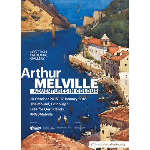 Arthur Melville: Adventures in Colour exhibition poster