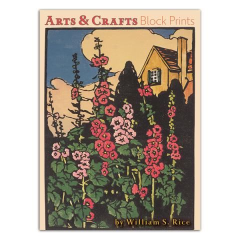 Arts and Crafts block prints by William S. Rice notecard box (20 cards)