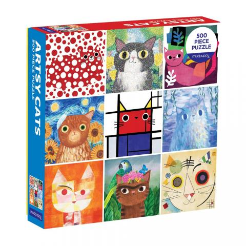 Artsy Cats family jigsaw puzzle (500 pieces)