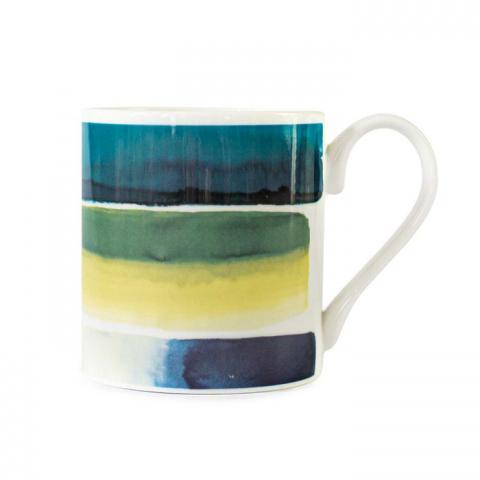 Muralla Azure abstract pattern mug