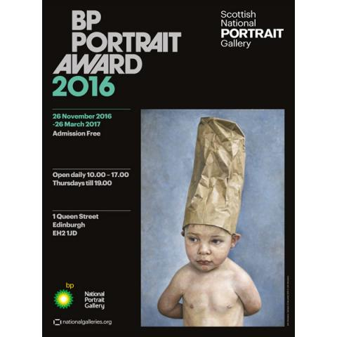 BP Portrait Award 2016 - Tad (Son of the Artist) exhibition poster