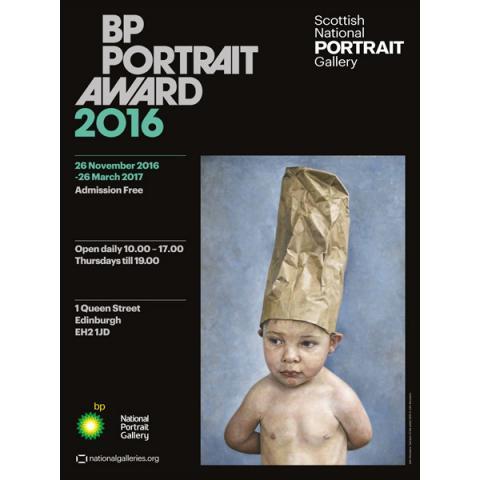 BP Portrait Award Tad Son of Artist Exhibition 2016 Poster