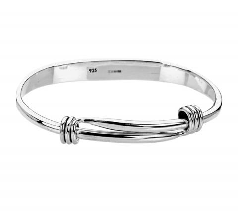 Tianguis Jackson Expandable Silver Bangle
