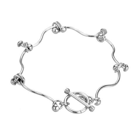 Tianguis Jackson Flexible Knot Silver Bracelet