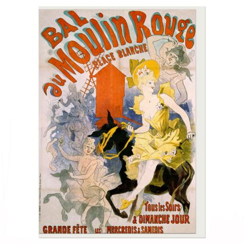 Bal au Moulin Rouge by Jules Chéret greeting card