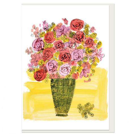 Basket of Flowers Andy Warhol Greeting Card