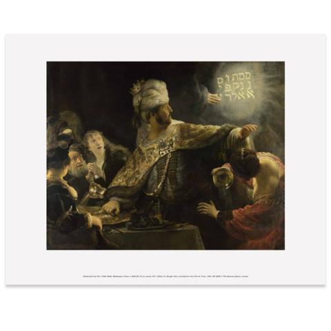 Belshazzar's feast by Rembrandt art print