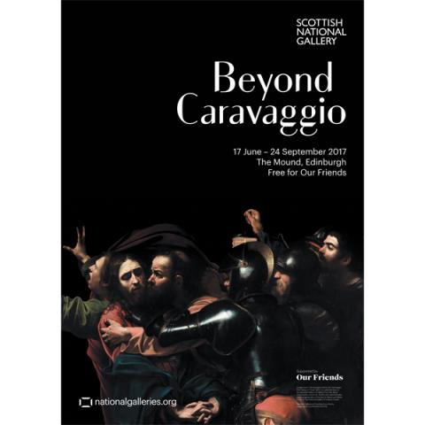 Beyond Caravaggio exhibition poster