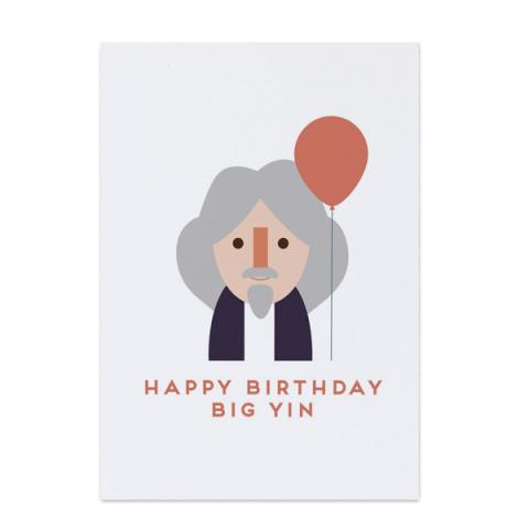 Billy Connolly 'big yin' birthday card
