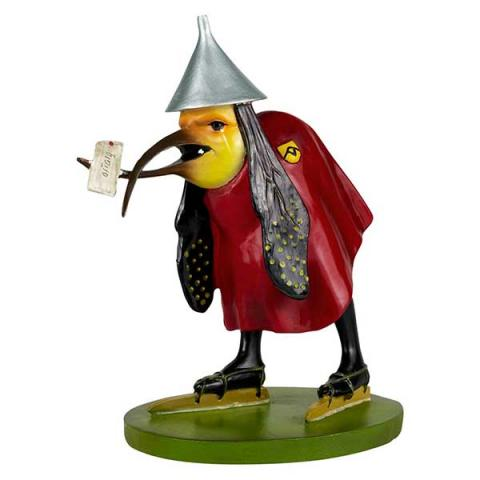 Bird with letter by Hieronymus Bosch hand painted resin replica figure