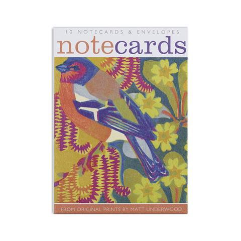 Birds among the flowers notecard set