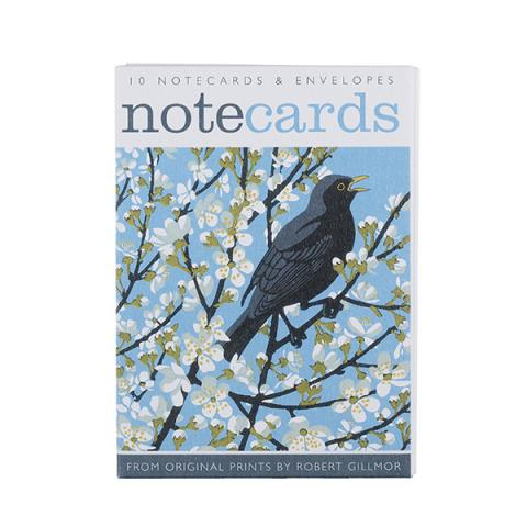 Bird and flowers notecard set