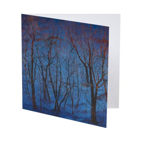 Blue Snow and Fiery Trees Victoria Crowe Christmas Card Pack (10 cards)