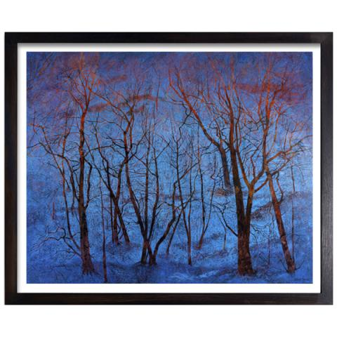 Blue Snow and Fiery Trees Victoria Crowe Limited Edition Print