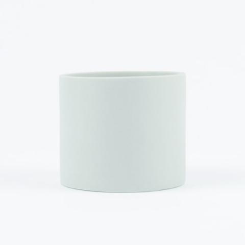 Blue handmade ceramic cup