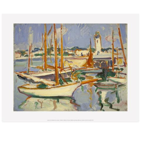 Boats at Royan by Samuel John Peploe art print