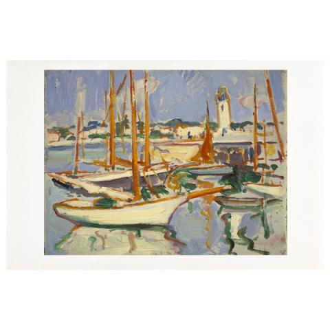 Boats at Royan by Samuel John Peploe art print