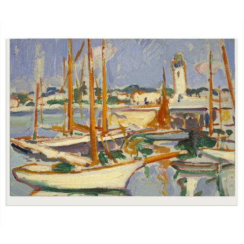 Boats at Royan Samuel John Peploe Greeting Card
