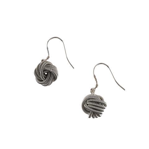 Bologna silver coloured earrings