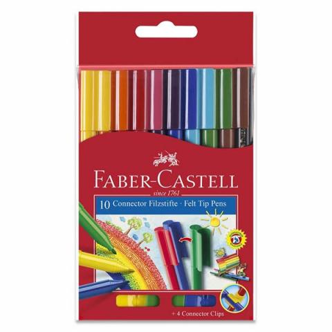 Faber-Castell Connector Fibre-tip Pen Box of 10