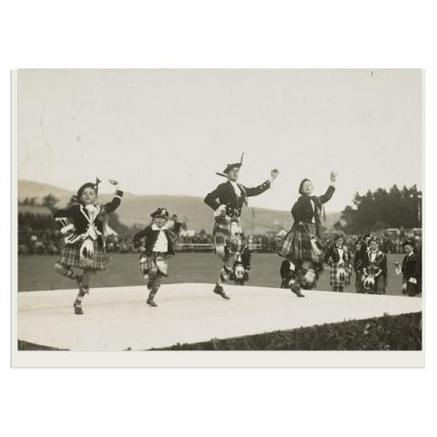 Braemar Games dancers greeting card