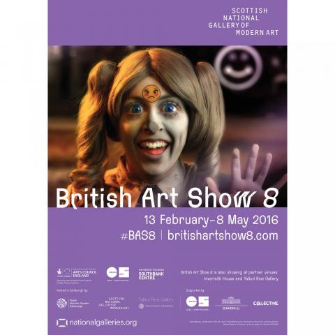 British art show 8: Feed me by Rachel Maclean exhibition poster