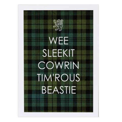 Wee Sleekit Cowrin Tim'rous Beastie Greetings Card