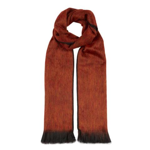 Burnt orange alpaca scarf