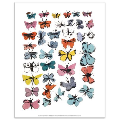 Butterflies by Andy Warhol art print