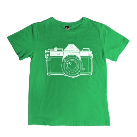 Camera graphic green medium cotton t-shirt