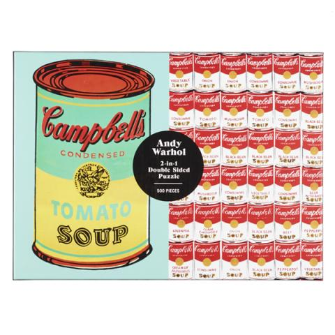 Campbell's Soup Can by Andy Warhol Two-in-One jigsaw puzzle (500 pieces)