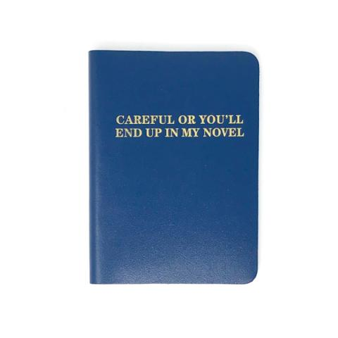 Careful or you will end up in my novel navy leather notebook