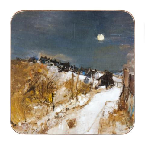 Catterline in Winter Joan Eardley Coaster